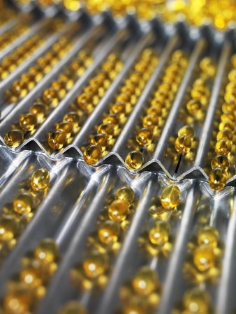 health industry: Medical Pills in production Line