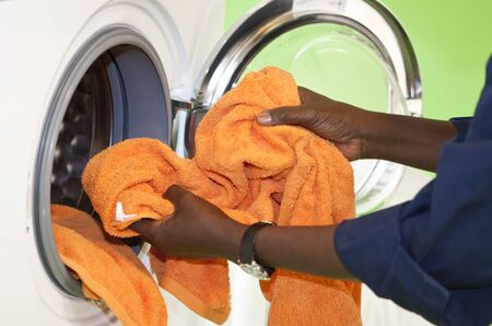 doing laundry: Close up of Doing the Laundry Stock Photo