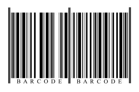 blanc: Blanc Barcode on white background