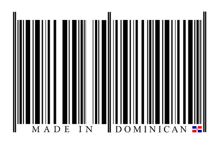 Dominican Republic barcode on white background photo