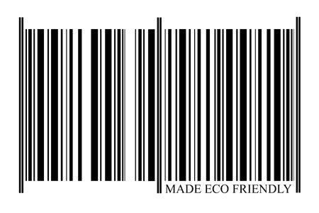 Eco Friendly Barcode on white background photo