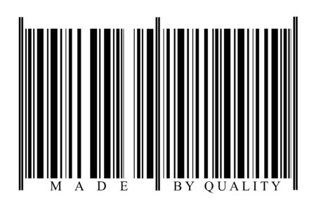 Quality Barcode on white background photo