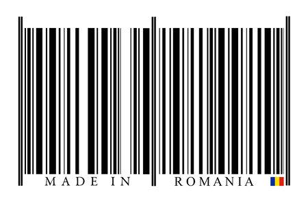 Romania Barcode on white background photo