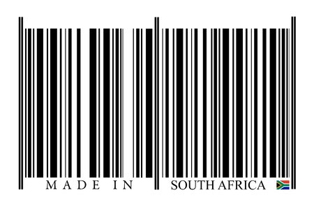 South Africa Barcode on white background photo