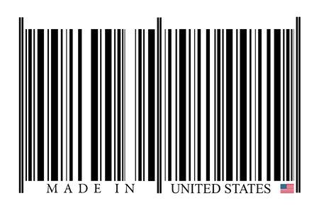 United States Barcode on white background photo