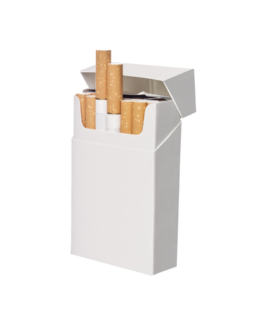 Box of cigarettes isolated on white background photo