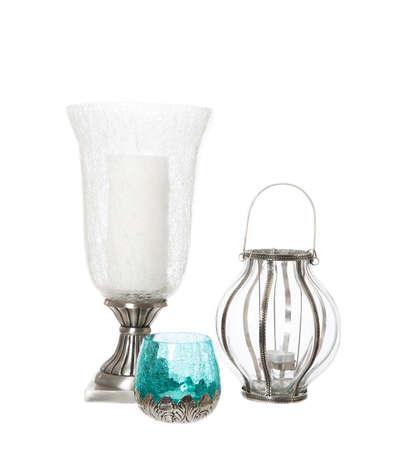 hanoukia: Groupe des chandeliers isol� sur fond blanc