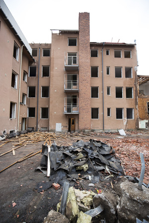 demolishing: Demolishing of a Recidential Area