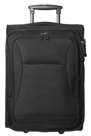 maleta: Maleta negro aislado sobre fondo blanco