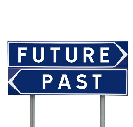 Future or Past choise on Road Signs isolated photo