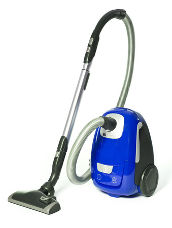 Blue Vacuum Cleaner isolated on white background