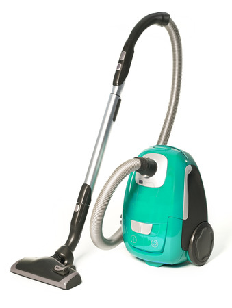 Light Green Vacuum Cleaner isolated on white background