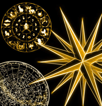 Astrology background Stock Photo