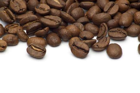 Coffee beans on white photo