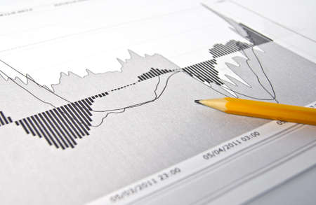 Business graphs background Stock Photo