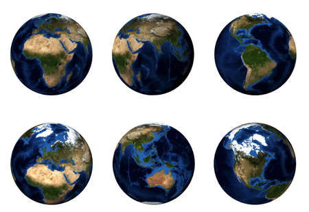 3D Planet Earth Stock Photo