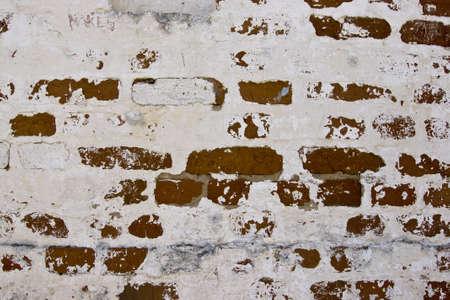 Old brick wall fragment Stock Photo