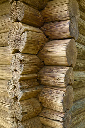 Log house structure wood