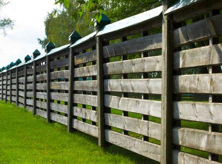 Fence in village