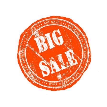 Grunge rubber stamp big sale Stock Photo