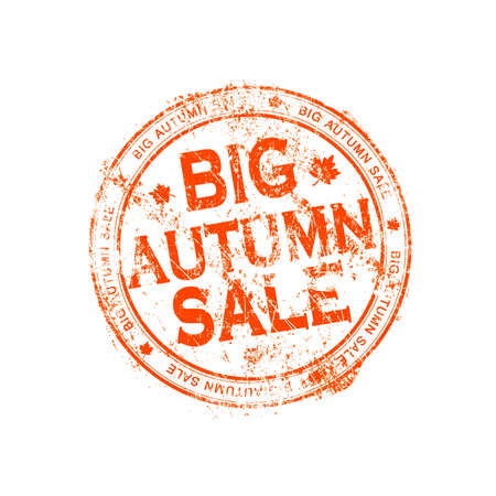 Big autumn sale stamp