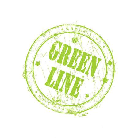 Green line stamp