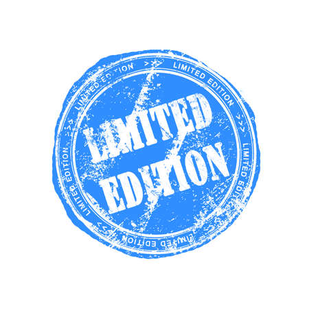 Limited edition rubber stamp Stock Photo