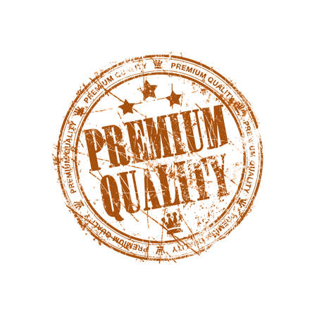 Premium quality brown grunge stamp photo