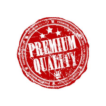 Premium quality red grunge stamp Stock Photo