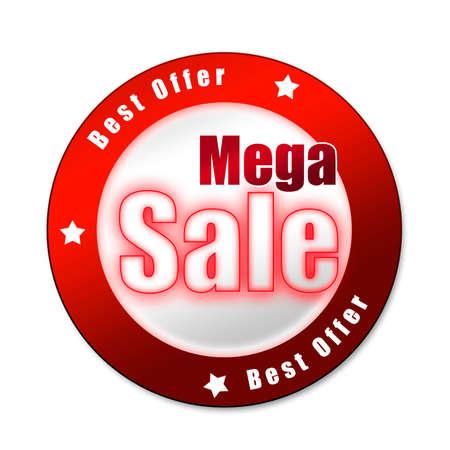 Special mega sale sticker