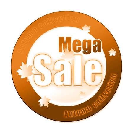 Special autumn sale sticker