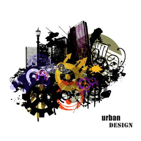 Urban design illustration Stock Photo