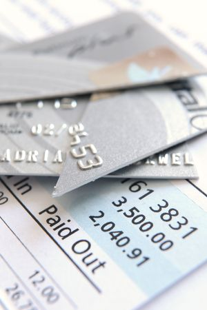 cash flow statement: cut up credit card on a statement