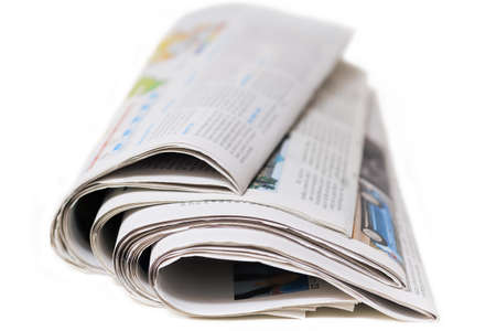 Newspapers isolated on a white background  photo