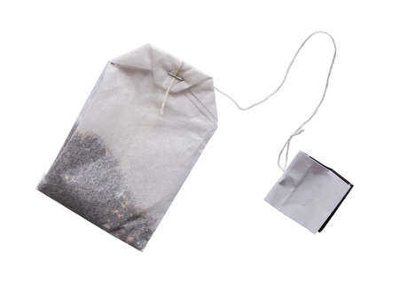 ceylon: teabag with a label on the white background
