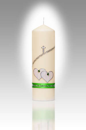 wedding candle for church wedding Stock Photo - 18285444