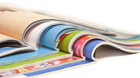 Color magazines isolated on the white background Stock Photo - 19595979