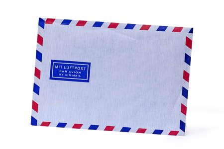 Old vintage style envelope on white  photo
