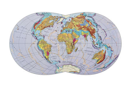 Old map  Geological construction of the earth photo