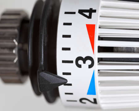 Heater thermostat  Heating costs Stock Photo - 21022659