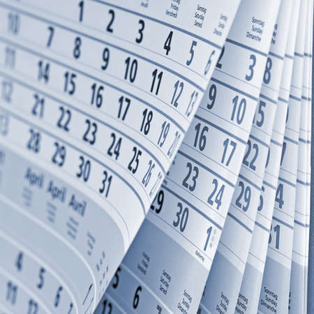 Close up ein Kalenderblatt