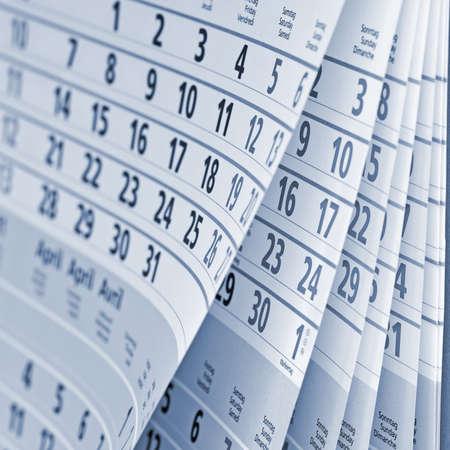 calendrier: Gros plan d'une page de calendrier