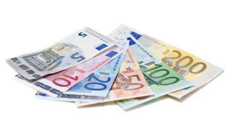 euro bill: Euro bills on white background