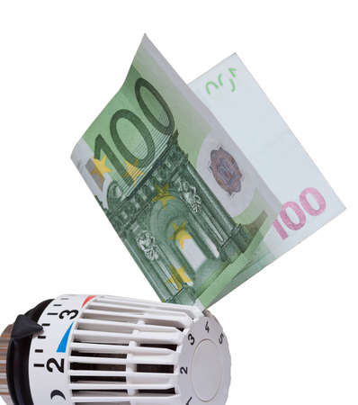 greenbacks: Thermostat with 100 euro.