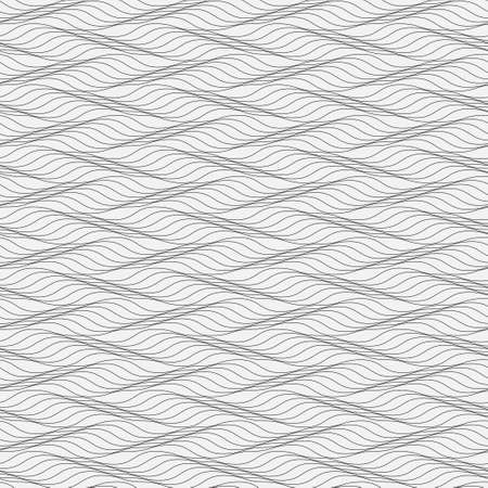 Simple seamless pattern from thin wavy lines. A modern vector illustration from the repeating geometrical elements. Approaches on wall-paper, packing, texture,wrapping-paper
