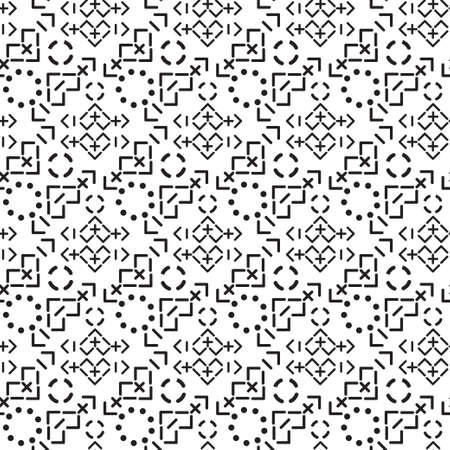 Stylish vector monochrome pattern in the form of signs of mathematical functionsÑŽ.  Perfectly approaches as a background, a cover of cards, on fabric and texture. It is isolated on a white background.