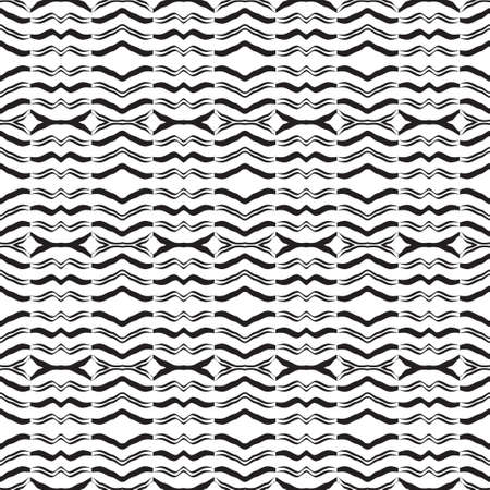 The modern abstract repeating geometrical pattern. To apply on fabric, a background, packing, a card cover. Vector illustrations.