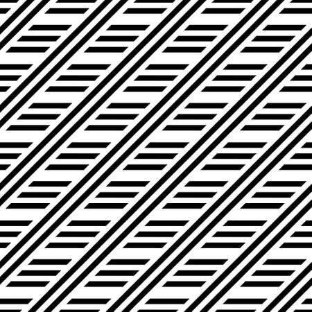 Modern abstract  repeating geometrical pattern from white and black lines. Illusion of a labyrinth. To apply on fabric, a background, packing, a card cover. Vector illustrations.