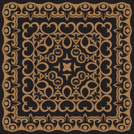 Abstract pattern in oriental style. A template for laser cutting. Vintage decorative background. Vector.