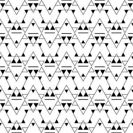 Modern seamless pattern of repeating geometrical triangles and rhombuses with the thin line. A card, a flyer, a cover. Vector illustration. Vektorové ilustrace